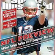New England Patriots Quarterback Tom Brady, 2013 Nfl Sports Illustrated Cover Art Print