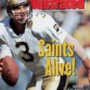 New Orleans Saints Qb Bobby Hebert... Sports Illustrated Cover Art Print
