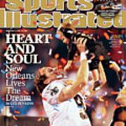 New Orleans Saints Qb Drew Brees, Super Bowl Xliv Sports Illustrated Cover Art Print