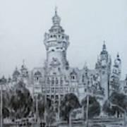 New Town Hall Leipzig Drawing By Mohammad Hayssam Kattaa