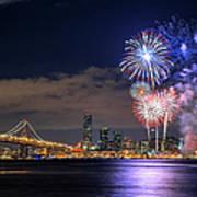 New Year Fireworks Art Print