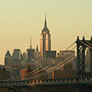 New York City Cityscape Sunrise Art Print