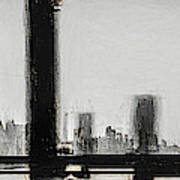 New York City From The Bridge #nyc #cityscape Art Print