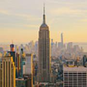New York City Skyline With Urban Art Print