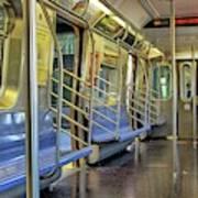 New York City Empty Subway Car Art Print