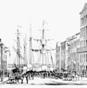 New York Docks, 1856 Art Print