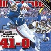 New York Giants Amani Toomer, 2001 Nfc Championship Sports Illustrated Cover Art Print