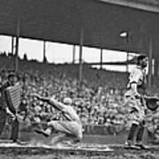 New York Giants Baseball Player Sliding Art Print