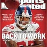 New York Giants David Tyree Sports Illustrated Cover Art Print