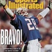New York Giants Everson Walls, Super Bowl Xxv Sports Illustrated Cover Art Print