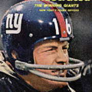 New York Giants Frank Gifford Sports Illustrated Cover Art Print