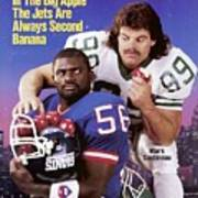 New York Giants Lawrence Taylor And New York Jets Mark Sports Illustrated Cover Art Print