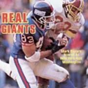 New York Giants Mark Bavaro... Sports Illustrated Cover Art Print