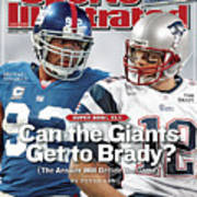 New York Giants Michael Strahan And New England Patriots Qb Sports Illustrated Cover Art Print