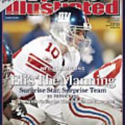 New York Giants Qb Eli Manning, 2008 Nfc Championship Sports Illustrated Cover Art Print
