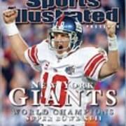 New York Giants Qb Eli Manning, Super Bowl Xlii Champions Sports Illustrated Cover Art Print