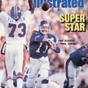 New York Giants Qb Phil Simms, Super Bowl Xxi Sports Illustrated Cover Art Print
