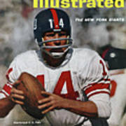 New York Giants Qb Y.a. Tittle... Sports Illustrated Cover Art Print