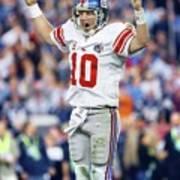 New York Giants Vs New England Patriots, Super Bowl Xlii Sports Illustrated Cover Art Print