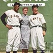 New York Giants Willie Mays, Loraine Day Durocher And Sports Illustrated Cover Art Print