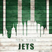 New York Jets Skyline Art Print
