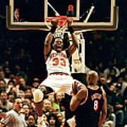 New York Knicks Patrick Ewing Does A Art Print