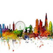 New York, London, Paris Skyline Mashup Art Print