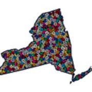 New York Map - 1 Art Print