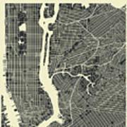 New York Map 3 Art Print