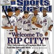 New York Mets Carlos Beltran, David Wright, Paul Lo Duca Sports Illustrated Cover Art Print