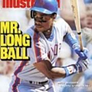 New York Mets Darryl Strawberry... Sports Illustrated Cover Art Print