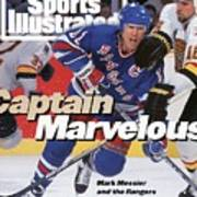 New York Rangers Mark Messier, 1994 Nhl Stanley Cup Finals Sports Illustrated Cover Art Print