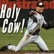 New York Yankees Derek Jeter, 1996 Al Championship Series Sports Illustrated Cover Art Print