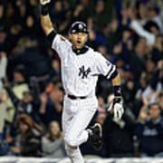 New York Yankees Derek Jeter Celebrates Art Print