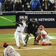 New York Yankees Hideki Matsui Hits Art Print