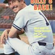 New York Yankees Manager Billy Martin Sports Illustrated Cover Art Print