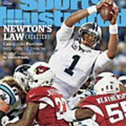 Newtons Law Revised Cam And The Panthers Keep Going Up Sports Illustrated Cover Art Print