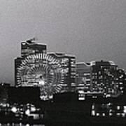 Night Scene Of Yokohama Art Print