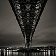 Night View Of Forth Road Bridge Art Print