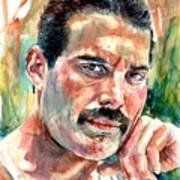 No One But You - Freddie Mercury Portrait Art Print