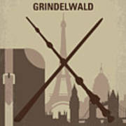 No1042 My The Crimes Of Grindelwald Minimal Movie Poster Art Print