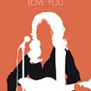 No273 My Dolly Parton Minimal Music Poster Art Print