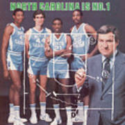 North Carolina Coach Dean Smith And Team Sports Illustrated Cover Art Print