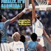 North Carolina James Worthy, 1982 Ncaa National Championship Sports Illustrated Cover Art Print
