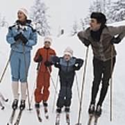 Norway, Danish Royal Family Skiing Art Print