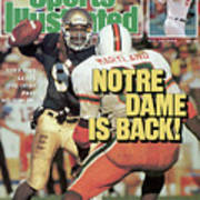 Notre Dame Is Back Tony Rice Leads The Irish Past No. 1 Sports Illustrated Cover Art Print