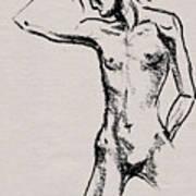 Nude Model Gesture Xxi Art Print
