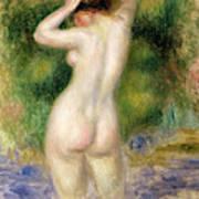 Nude Wading, Circa 1880 Art Print