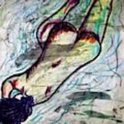 Woman Sleeper Nude Art Print
