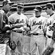N.y. Mets Manager Gil Hodges Sports A Art Print